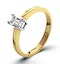 Certified Emerald Cut 18K Gold Diamond Engagement Ring 0.25CT-G-H/SI - image 1