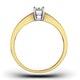 Certified Emerald Cut 18K Gold Diamond Engagement Ring 0.25CT-F-G/VS - image 2