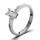 Engagement Ring Certified Emerald Cut Diamond 0.33CT G/VS 18K Gold - image 1