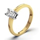 Certified Emerald Cut 18K Gold Diamond Engagement Ring 0.33CT-G-H/SI - image 1
