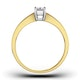 Certified Emerald Cut 18K Gold Diamond Engagement Ring 0.33CT-G-H/SI - image 2