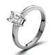 Diamond Engagement Ring Emerald Cut 18K White Gold 0.50CT-F-G/VS - image 1
