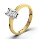 Certified Emerald Cut 18K Gold Diamond Engagement Ring 0.50CT-G-H/SI - image 1