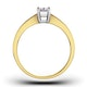 Certified Emerald Cut 18K Gold Diamond Engagement Ring 0.50CT-G-H/SI - image 2