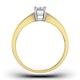 Certified Emerald Cut 18K Gold Diamond Engagement Ring 0.50CT-F-G/VS - image 2