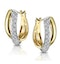 1/4 Carat Diamond Pave Crossover Earrings in 9K Gold - image 2