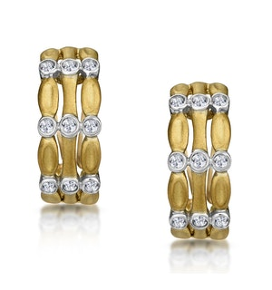 0.33ct Diamond Studded Huggy Earrings in 9K Gold