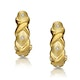 Three Stone Diamond Studded Huggy Earrings in 9K Gold - image 1