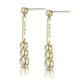 Small Drop Earrings 0.12ct Diamond 9K Yellow Gold - image 2