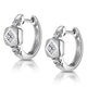 Chic Diamond Design Huggy Earrings in 9K White Gold - image 2