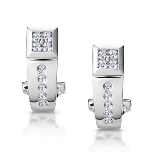 Elegant Diamond Huggy Earrings in 9K White Gold