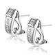 Elegant Diamond Huggy Earrings in 9K White Gold - image 2