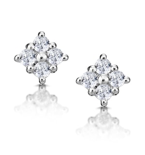 Small Fancy Earrings 0.18ct Diamond 9K White Gold