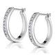 Hoop Earrings 0.25ct Diamond 9K White Gold - image 2