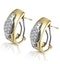 1/4 Carat Diamond Pave Inlay Design Earrings in 9K Gold - image 2