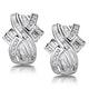 1.15ct Diamond Baguette Earrings in 9K White Gold - image 1