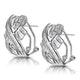 1.15ct Diamond Baguette Earrings in 9K White Gold - image 2