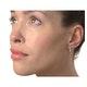 Hoop Earrings 0.11ct Diamond 9K Gold - image 2