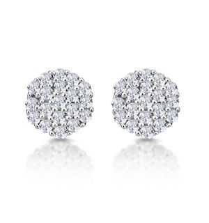 Cluster Earrings 0.25ct Diamond 9K Yellow Gold
