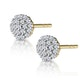 Cluster Earrings 0.25ct Diamond 9K Yellow Gold - image 2