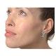 Ribbon Earrings 0.31ct Diamond 9K White Gold - image 2