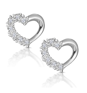 Small Fancy Earrings 0.10ct Diamond 9K White Gold
