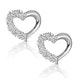 Small Fancy Earrings 0.10ct Diamond 9K White Gold - image 1