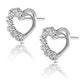 Small Fancy Earrings 0.10ct Diamond 9K White Gold - image 2