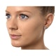 Small Fancy Earrings 0.10ct Diamond 9K White Gold - image 3