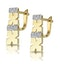 0.10ct Diamond Pave Kisses Earrings in 9K Gold - RTC-H3879 - image 2