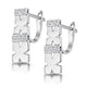 0.10ct Diamond Pave Kisses Earrings in 9K White Gold - RTC-H3870 - image 2