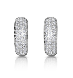 Huggy Earrings 0.33ct Diamond 9K Yellow Gold