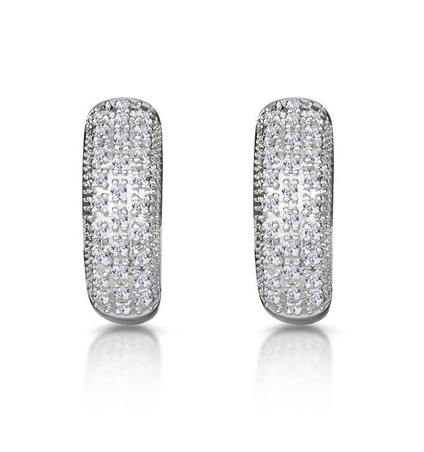 Huggy Earrings 0.33ct Diamond 9K Yellow Gold - image 1