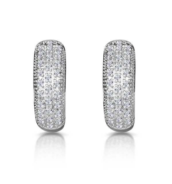 Huggy Earrings 0.33ct Diamond 9K Yellow Gold - image 1