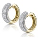 Huggy Earrings 0.33ct Diamond 9K Yellow Gold - image 2