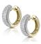 Huggy Earrings 0.33ct Diamond 9K Yellow Gold - image 2