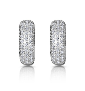 Huggy Earrings 0.33ct Diamond 9K White Gold