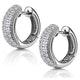 Huggy Earrings 0.33ct Diamond 9K White Gold - image 2