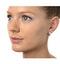 Huggie Earrings 0.33ct Diamond 9K White Gold - image 3