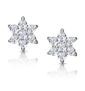 Cluster Earrings 0.30ct Diamond 9K Yellow Gold