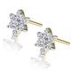Cluster Earrings 0.30ct Diamond 9K Yellow Gold - image 2
