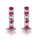 Ruby 1.30CT And Diamond 9K White Gold Earrings - image 3