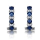 Sapphire 1.45CT And Diamond 9K White Gold Earrings - image 3
