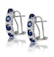 Sapphire 1.45CT And Diamond 9K White Gold Earrings - image 1