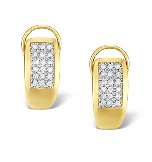 9K Gold Diamond Huggy Cluster Earrings