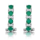Emerald 1.10CT And Diamond 9K White Gold Earrings - image 2