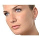 Cluster Earrings 0.50ct Diamond 9K White Gold - image 2