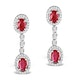 Ruby 0.55CT And Diamond 9K White Gold Earrings  H4483 - image 1
