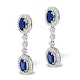 Sapphire 0.65CT And Diamond 9K White Gold Earrings - image 2