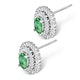Emerald 4 x 6mm And Diamond 9K White Gold Earrings - image 2